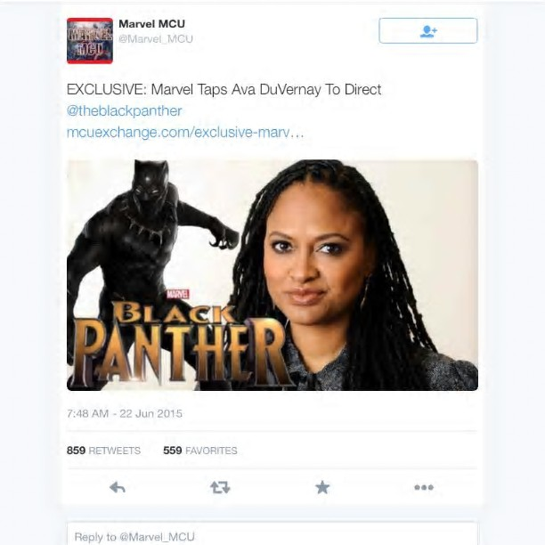 NewPost Ava DuVernay Does It Again Hired By Marvel tohellip