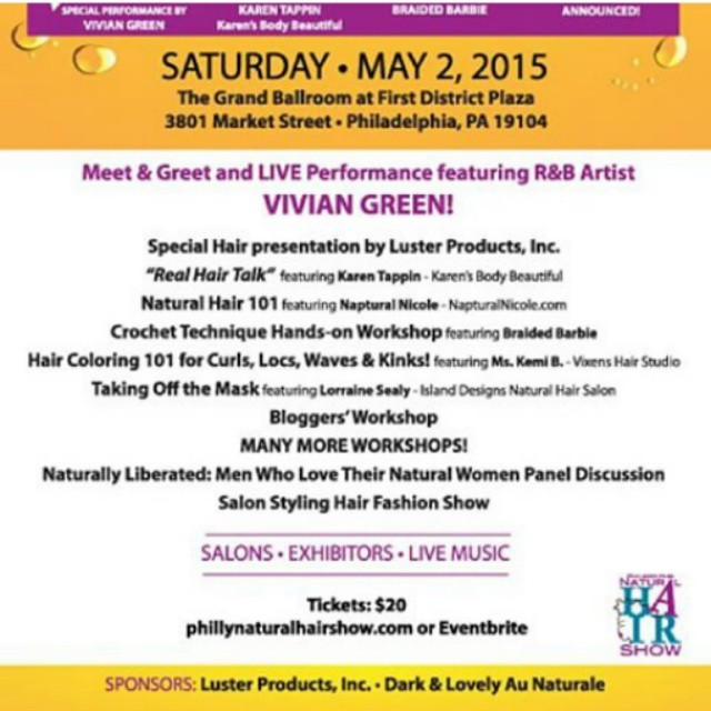 Don't forget to purchase your tickets for the @phillynaturalhairshow on…
