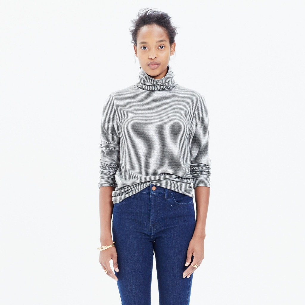 madewell slim turtle neck